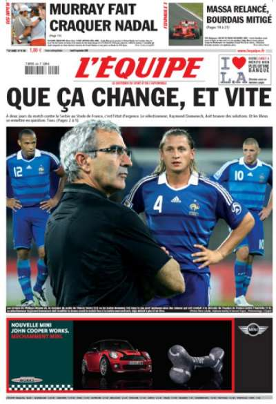 BarrJo » Blog Archive » Le journal l'Equipe et Raymond Domenech